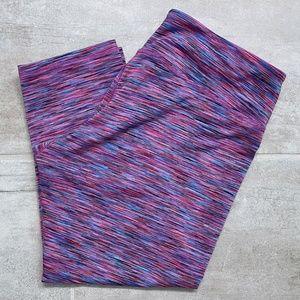 RBX Pink and Blue Capri Leggings